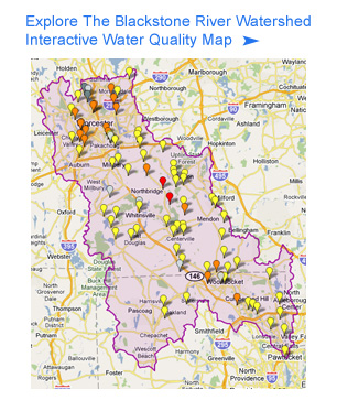 Interactive Water Quality Map - Blackstone River Watershed